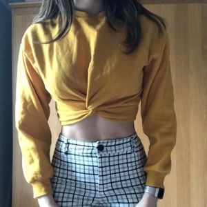 Cropped Yellow Sweater H&M